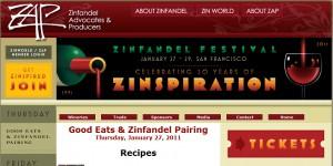 ZAP site banner