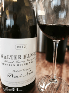 Walter Hansel 2013 Estate Pinot Noir